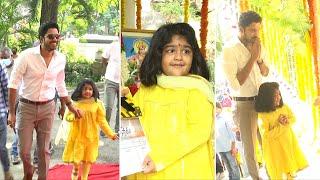 Allari Naresh Daughter Super Cute Exclsuive Visuals @ Sabhaku Namaskaram Movie Launch