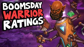 BOOMSDAY WARRIOR CARD RATINGS | The Boomsday Project | Hearthstone