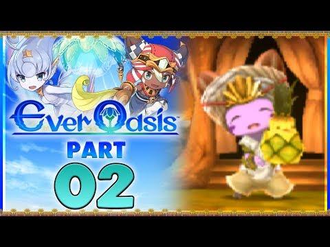 Ever Oasis - Part 2 | Qarr Dunes Exploration! [New Nintendo 3DS Gameplay]