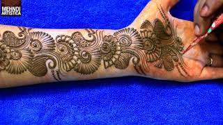 Learn Easiest Henna Mehndi Design | Step by Step Mehendi Designs for Hand | MehndiArtistica