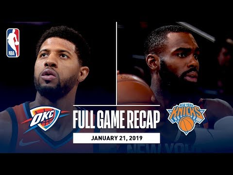 Video: Full Game Recap: Thunder vs Knicks | Paul George Drops 31 In The Garden