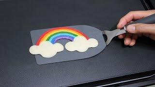 Pancake Art - Rainbow Super Easy Pan Cake by Tiger Tomato
