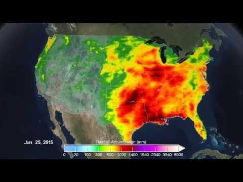 Rainfall across America in 2015