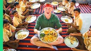 Video TRADITIONAL DAL BAATI Cooked for 50 School Kids! Unique DESERT Food in Rajasthan MP3, 3GP, MP4, WEBM, AVI, FLV Februari 2019