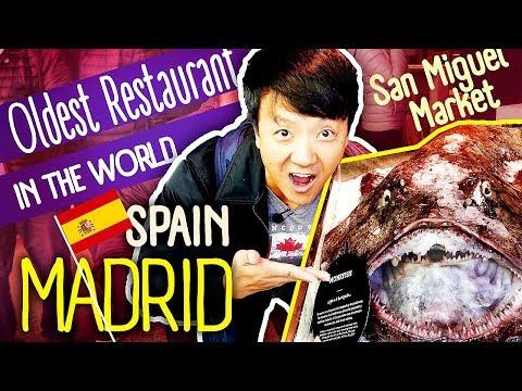 Tapas Tour & OLDEST RESTAURANT in The WORLD in Madrid Spain