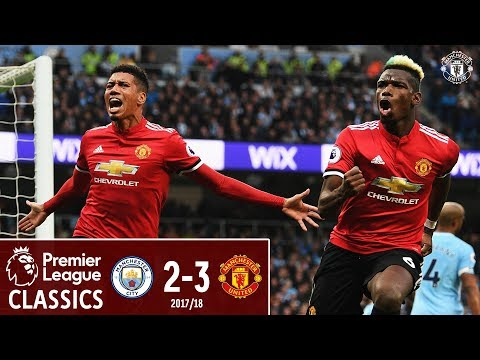 Premier League Classic | Manchester City 2-3 Manchester United | Pogba Double Sinks City