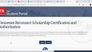 Update the Student Portal to Apply for TNR Scholarship