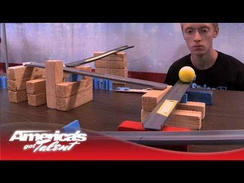 agt - Sprice shows off his innovative design and complex gadgets that performing a simple task: getting a soccer ball into the goal! Subscribe Now for More AGT: ht...