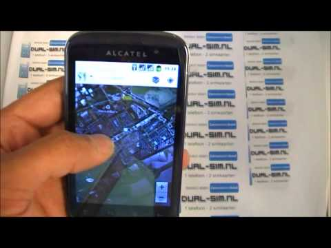 Alcatel OT-991D Android 2.3 dual-sim phone UNBOXING