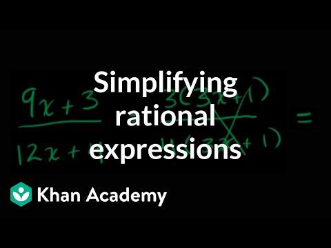 Algebra: Rational expressions