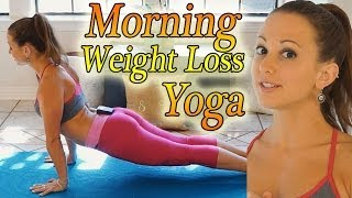 Morning Yoga For Weight Loss - 20 Minute Workout Fat Burning Yoga Meltdown Beginner & Intermediate - YouTube