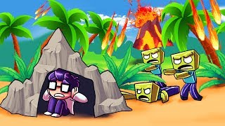 Minecraft | VOLCANO VS BASE - Lava Tsunami Challenge! (Erupting Volcano)