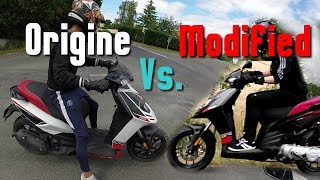 8. Aprilia SR Motard VS Aprilia SR Motard Modified