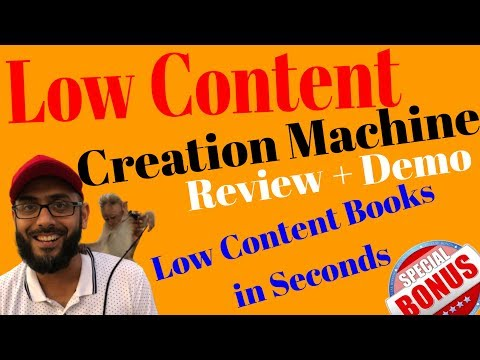 Low Content Creation Machine Review💥Learn How to Create Low Content Books to Sell on Amazon Kindle