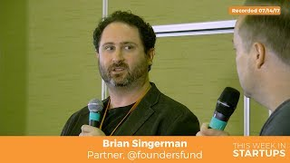 Watch full episode: https://youtu.be/O8emgaUsOZYIn under a decade, Founders Fund has become what many people would consider to be in the Top 5 in the venture capital space. Filmed live on stage at the 2017 LAUNCH Angel Summit in Napa Valley, Jason interviews Founders Fund's top VC Brian Singerman. In this special episode of TWiST, Brian shares highlights from portfolio investments, the criteria for a Founders Fund investment, AI predictions, and more. Plus, find out the 3 parts to Brian's approach to early stage investments and working with angel investors.For full show notes, subscribe to http://thisweekinstartups.com/about/#allsubscribe