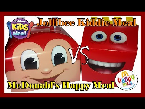 2017 Jollibee Kiddie Meal vs. McDonald's Happy Meal | fastfoodTOYcollection