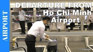 Departing from Ho Chi Minh City Airport called Tan Son Nhat International Airport (SGN). If this is your first visit to the Ho Chi Minh City Airport (Tân Sơn Nhất International Airport) you should find this video helpful for getting an idea of the airport procedures when you depart from Tan Son Nhat International Airport in Vietnam (Saigon Airport).The video begins with our arrival by taxi at Ho Chi Minh City Airport where we start off by giving the viewer a tour of the outside area of the airport. This is the airport drop off area which also offers passengers and their family and friends some outdoor restaurants and cafes to sit together at. We then make our way into the Ho Chi Minh City Airport Departure Terminal or Check-in Hall. Viewers are then given a tour of this area which includes the modern check-in counters, the views from the terminal windows (we watch a sunset and see a Vietnam Airlines Boeing 787 Dreamliner), we see some of the restaurants and shops available to passengers and also the location of the Ho Chi Minh City Airport VAT Refund (Tax Refund) Desk. After our tour around the airport Check-in area we pass through Immigration (Passport Control) and airport security. There is no footage from Immigration (Passport Control) or security because photography is not allowed in this area of the airport. Once we have made our way passed Immigration and Security and arrive at th Ho Chi Minh City main departure hall we begin a tour  of this terminal which includes a walk to the East and West ends of this departure terminal. Viewers are presented with the Duty Free Shops, services, restaurants and bars available to passengers in this airport. The airport departure area features a medium sized Food Court, various airport lounges, passenger sleeping areas, an airport lounge available to all passengers with an entrance fee, a few spa´s and of course plenty of shops selling Vietnamese products and souvenirs from Vietnam. Just like the Check-in area the departure t