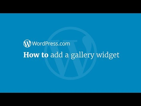 Video WordPress Tutorial: How to Add a Gallery Widget download in MP3, 3GP, MP4, WEBM, AVI, FLV January 2017