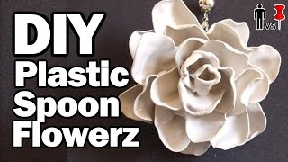 DIY Plastic Spoon Flowers - Man Vs. Pin #38 - YouTube
