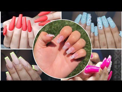 Diseños de uñas - Mis trabajos de un Día desde diseños discretos a largos