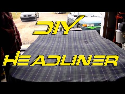 headliner - The guys at Poor Man Mods show how to fix your old headliner, or how to create your own custom headliner with the fabric of your choice http://poormanmods.co...