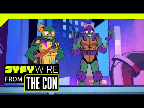 We Talked To The Teenage Mutant Ninja Turtles. Really! | SDCC 2018 | SYFY WIRE