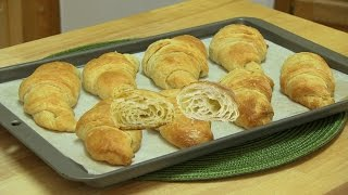 Eggless French Croissant Rolls Video Recipe by Bhavna | Flaky & Buttery