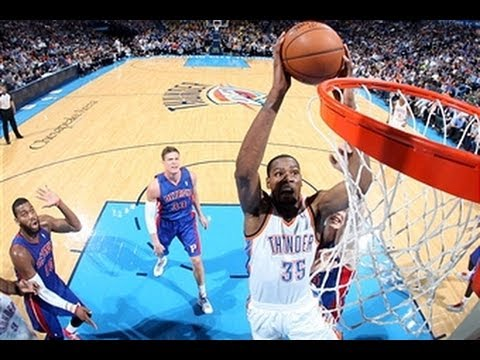 Thunder - Download NBA Game Time http://www.nba.com/mobile Kevin Durant went off for the comeback win against the Pistons to settle the Thunder as number 2 in the West...