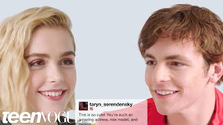 Video Kiernan Shipka and Ross Lynch Face-Off in a Compliment Battle | Teen Vogue MP3, 3GP, MP4, WEBM, AVI, FLV Oktober 2018