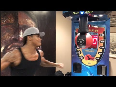 NEW RECORD!!'BEAST' ANTHONY YARDE SETS A NEW RECORD ON FRANK WARREN PUNCH BALL CHALLENGE -