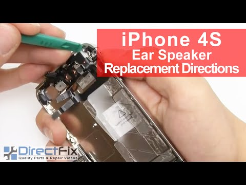 earphone - http://www.directfix.com/product/IP-2525.html presents the iPhone 4S earphone repair and replacement directions. If your earphone on your iPhone 4S went out ...