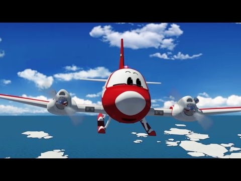 Airplane cartoon for kids - The Airport Diary - Winky goes to North Pole! (cartoon 70)