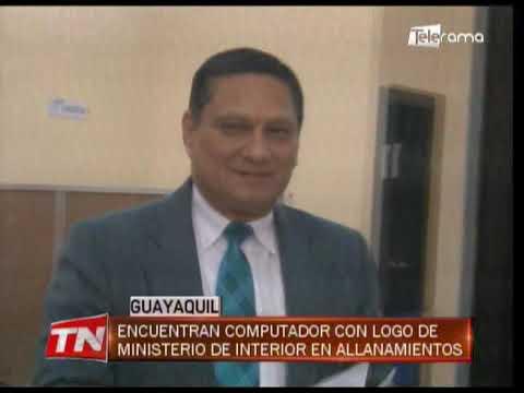 Encuentran computador con logo de ministerio de interior en allanamientos