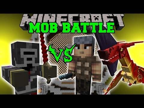 MAXED PLAYER VS GENERAL, VILLAGERS, & MORE - Minecraft Mob Battles - Mods