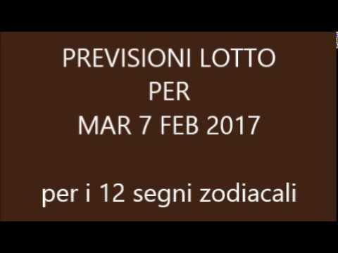 Previsioni per il Lotto ★ Estrazione Martedì 7 Febbraio 2017