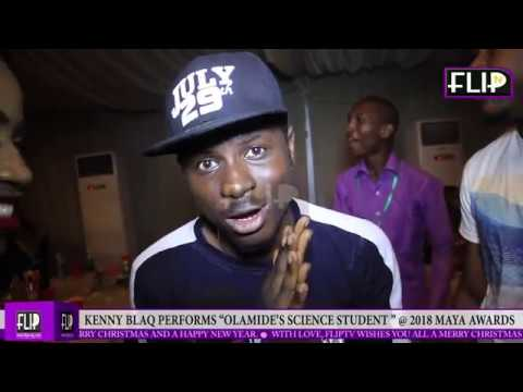 "KENNY BLAQ PERFORMS OLAMIDE'S ""SCIENCE STUDENT "" @ 2018 MAYA AWARDS"