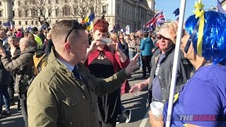 Tommy Robinson asks anti-Brexit marchers