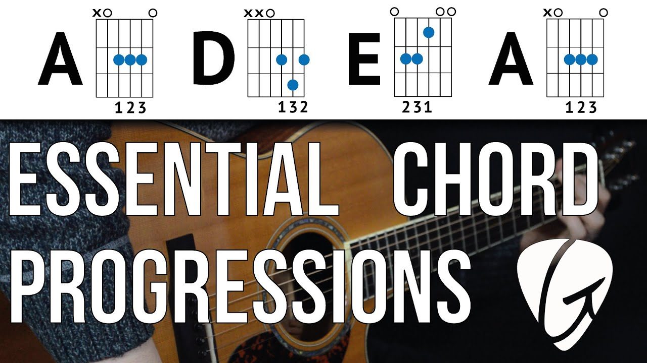 Chord Progression Practice – A D E A – Play TONS of songs with 3 Easy Guitar Chords