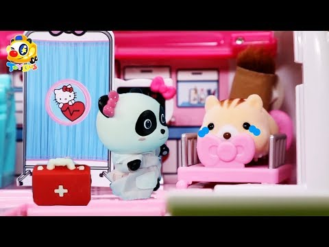 Baby Squirrel Got Injured  Baby Panda Doctor  Play Doh for Kids  Pet House Toy  ToyBus