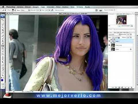 Video 2 de Photoshop: Cambiar color de pelo con Photoshop