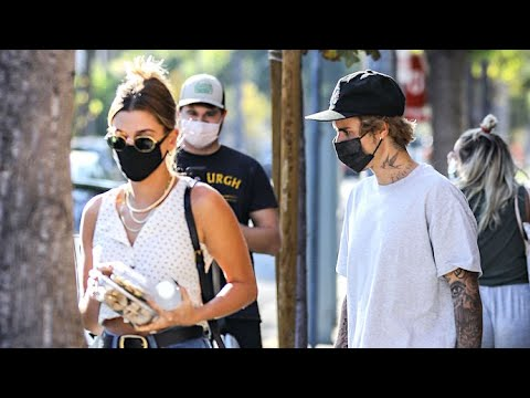 Justin Bieber Grabs Food-To-Go With Hailey Baldwin On The Day Of His Custom Crocs Launch