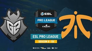 G2 vs Fnatic - ESL Pro League S8 EU - bo1 - de_dust2 [CrystalMay, Anishared]