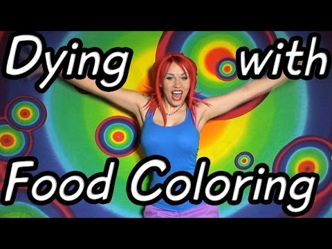 How to Dye Wool with Food Coloring ~ TTTV Tutorial ~ Dreadlock Transition Method for Wool