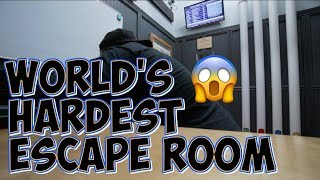 WE DID THE WORLD'S HARDEST ESCAPE ROOM!!!😱