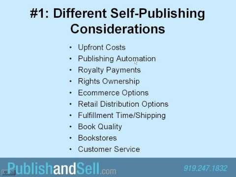Self-Publishing Tutorial: The Top 10 Things You Should Know about Self-Publishing Your Book.