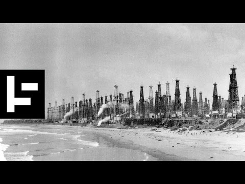 Hidden Oil Wells of LA. Hidden in plain sight as fake buildings, tropical islands and cell towers