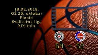 kk partizan kk sava 64 52 (pioniri, 18 03 2018 ) košarkaški klub sava