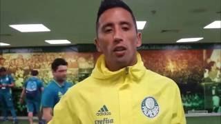 Lucas Barrios Fala Sobre O jogo Do (Palmeiras x EC Vitória )