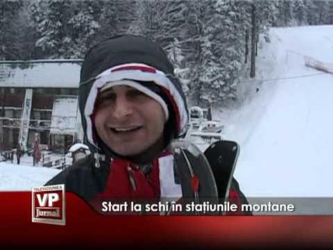 Start la schi în staţiunile montane