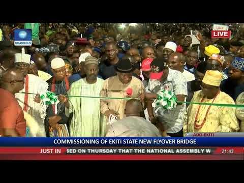 Fmr President Goodluck Jonathan Commissions Ekiti Flyover